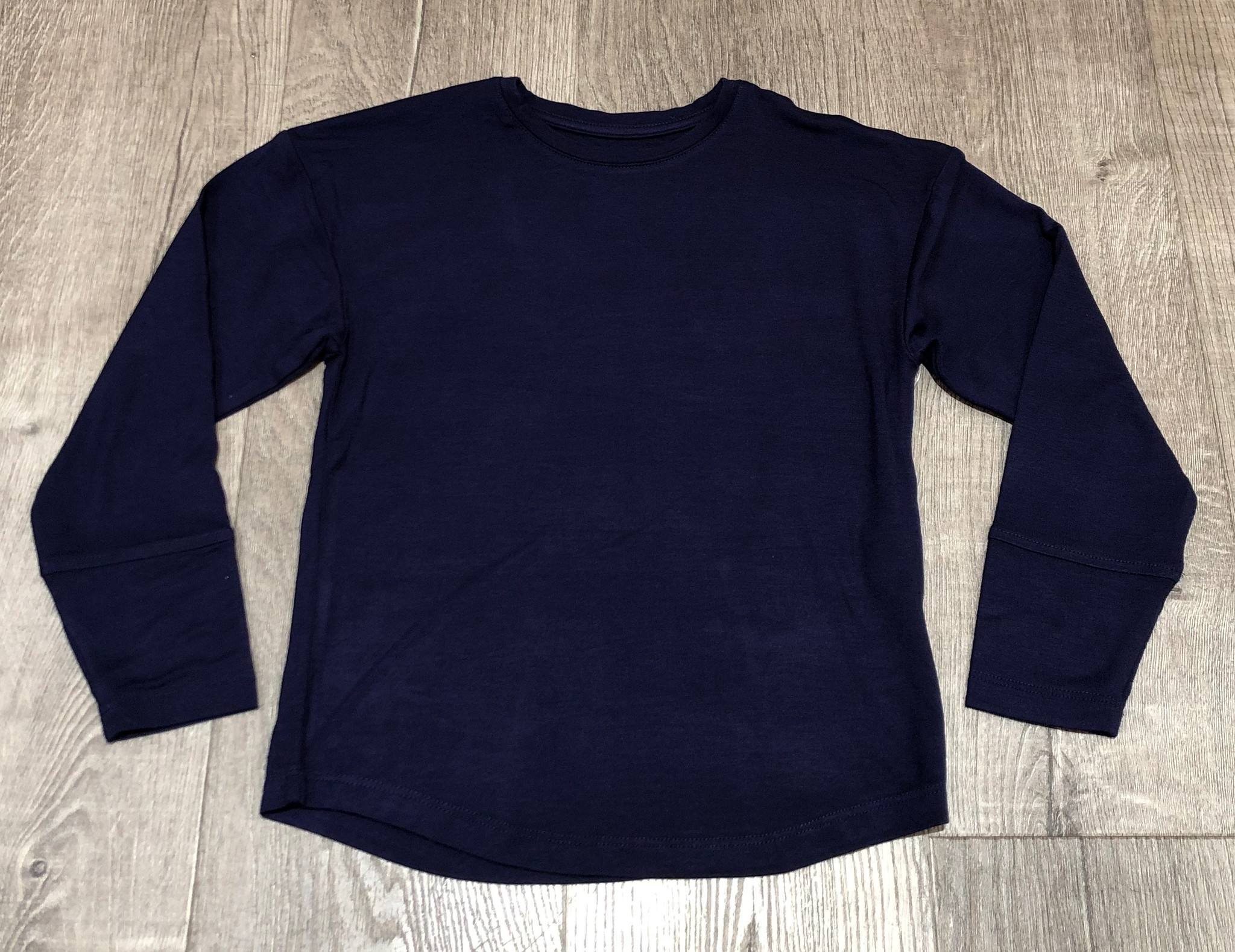 Candy Pink W20631 Long Sleeve Yoga Top, Navy