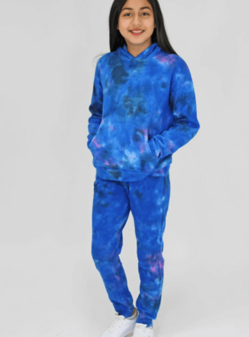 Candy Pink W20305 Galaxy Tie Dye Jogger, Blue