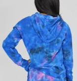 Candy Pink W20315 Galaxy Tie Dye Shorts, Blue