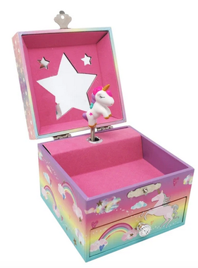 Pink Poppy Cotton Candy Dreams Small Music Box
