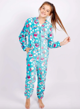 Candy Pink W20444 Polar Bear Onesie