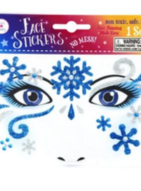 Pink Poppy Snow Princess Snowflake Face Stickers