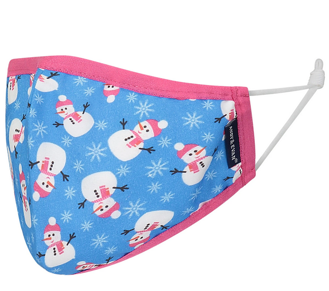 Face Mask AE Holiday Face Mask Bows/Snowman CHILD