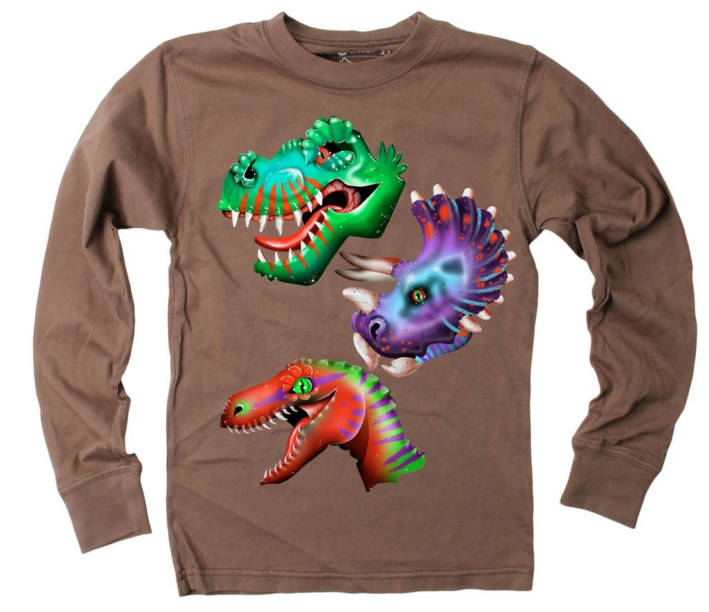Wes And Willy 7651 Triple Dino LS T Chocolate