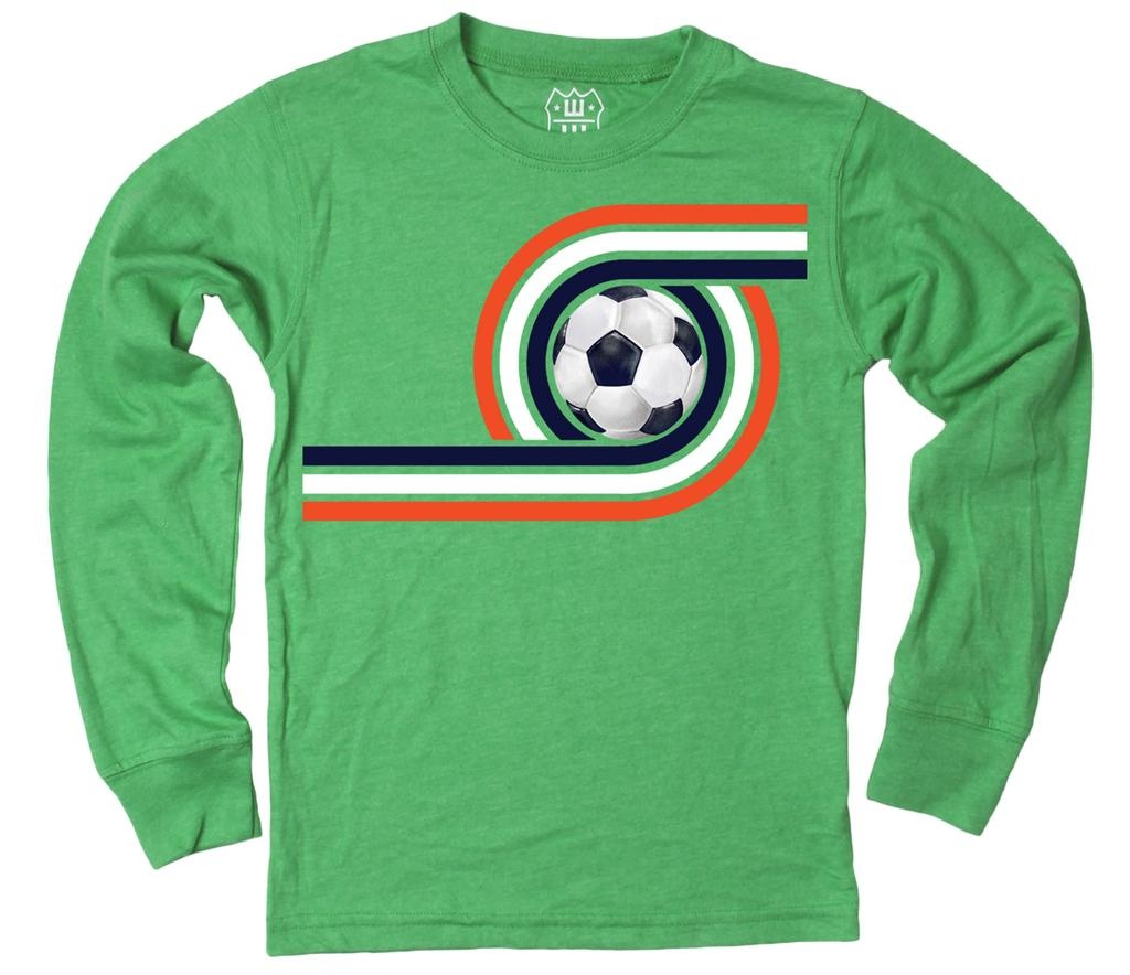 Wes And Willy 7647 Retro Soccer LS T Clover