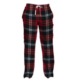 Wes And Willy 7601 Plaid Pant Bull Red