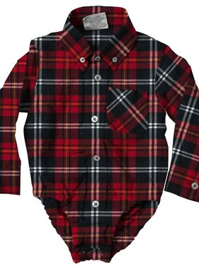 Wes And Willy 7602 Plaid L/S Hopper Bull Red