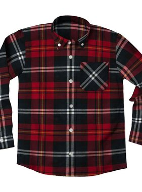 Wes And Willy 7600 Plaid L/S Shirt Bullseye Red