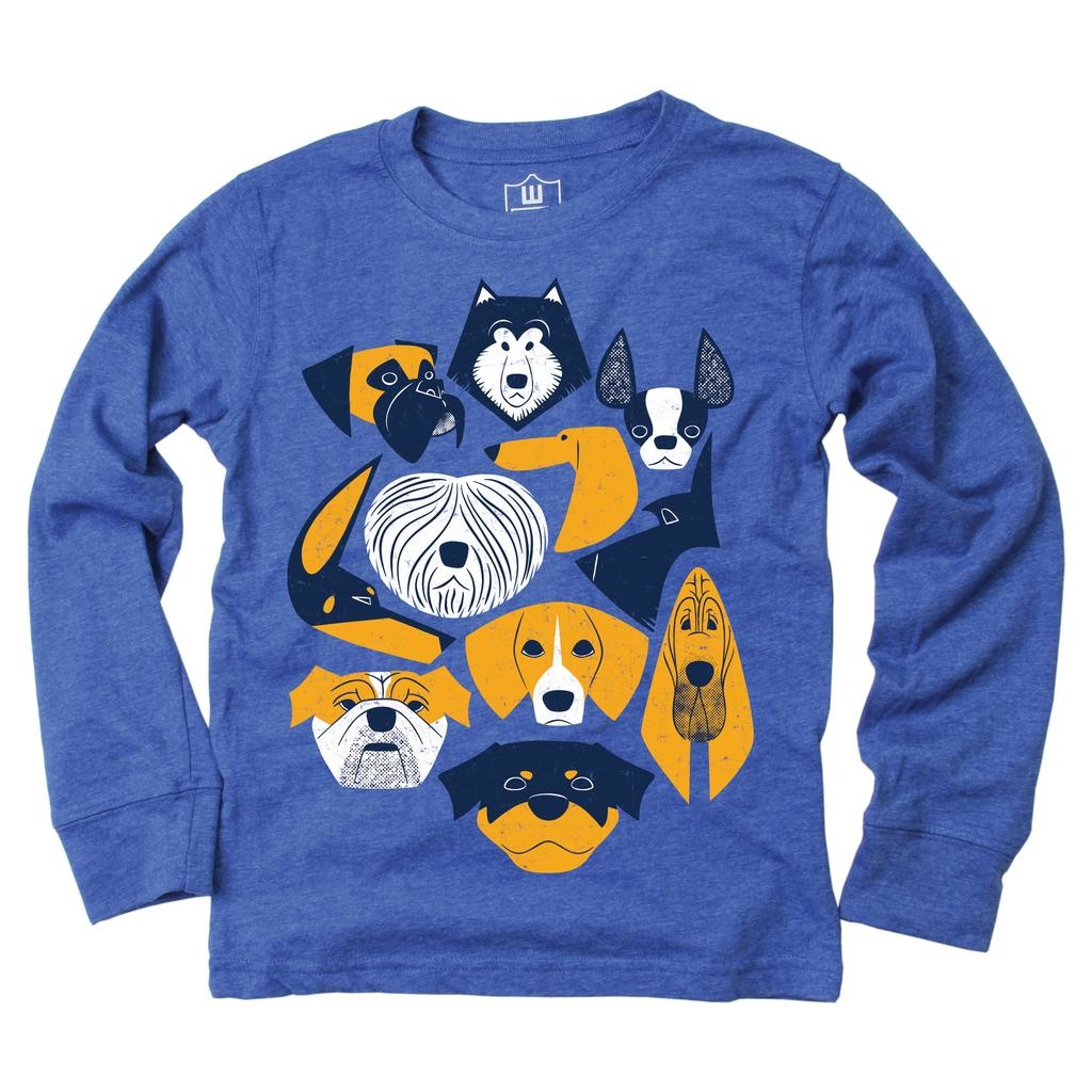 Wes And Willy Dog L/S T Blue Moon