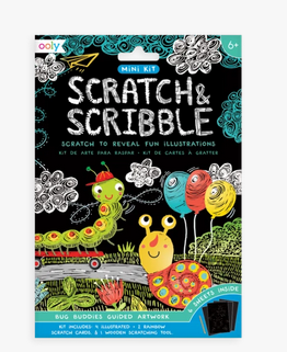 Ooly 161-056  Mini Scratch & Scribble Art Kit: Bug Buddies