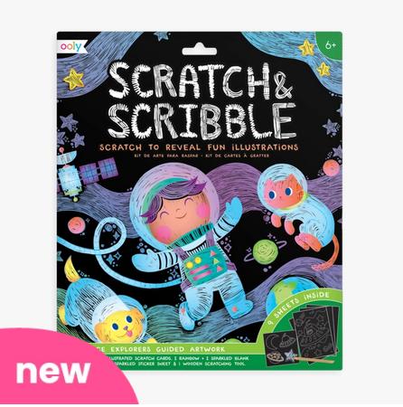 Ooly 161-050 - Scratch & Scribble Art Kit: Space Explorers