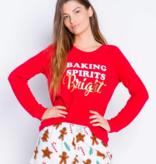 Pj Salvage Baking Spirits Bright Flannel Short, Ivory