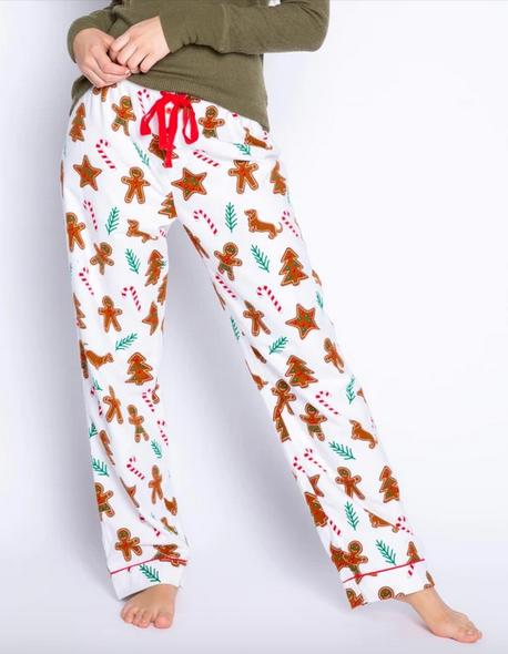 Pj Salvage Baking Spirits Bright Flannel Pant, Ivory