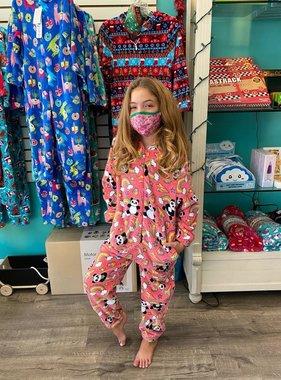 Candy Pink W20442 Panda Onesie