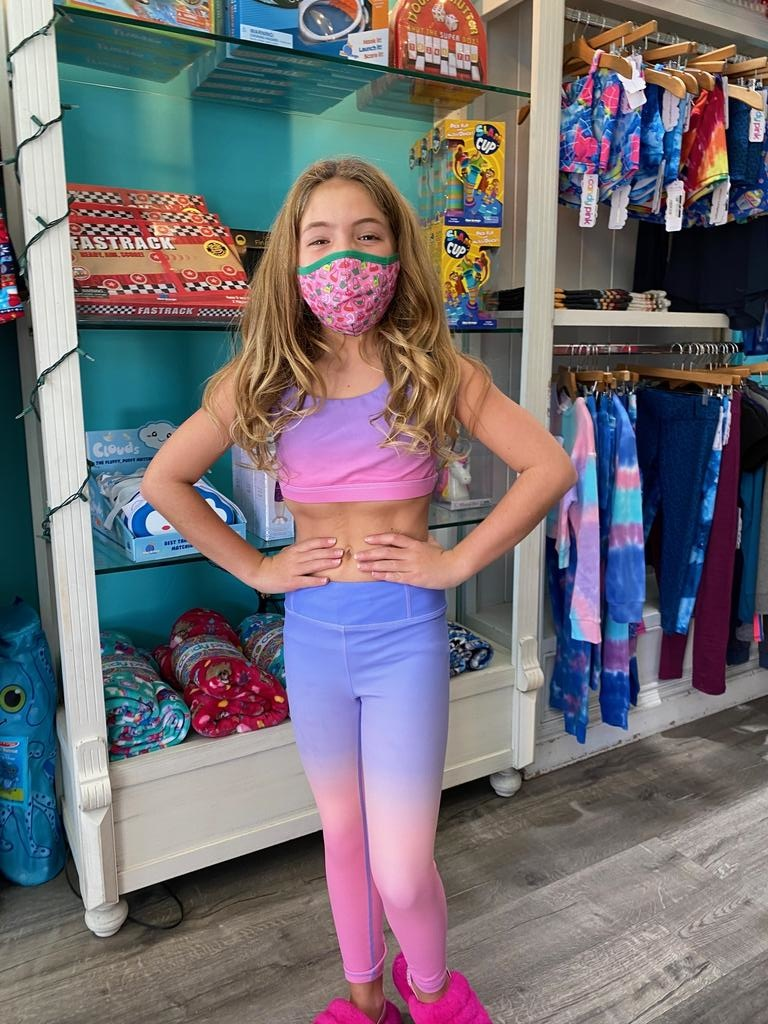 Candy Pink W20613 Ombre Crop Top, Lilac/Pink