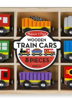 Melissa & Doug Wooden Train Cars 5186