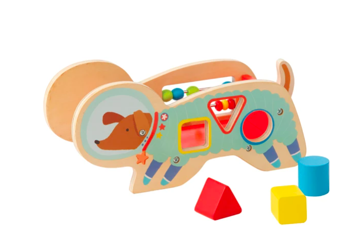 Manhattan Toy 218370 Wood Shaper Sorter Space Dog