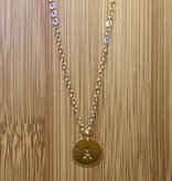 Little Miss Zoe Initial Necklaces, Gold