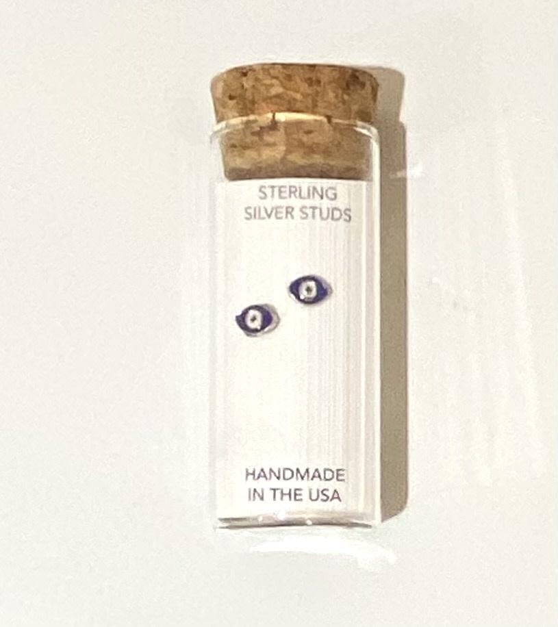 Little Miss Zoe Stud Earrings In A Bottle - Evil Eye