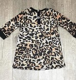 Cozii C-L/S Contrast Dress Leopard