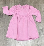 Cozii C-L/S Ruffle Front Dress Dark Pink