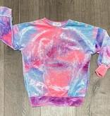 Little Mass C-Drop Shoulder Tunic Tie Dye Velvet