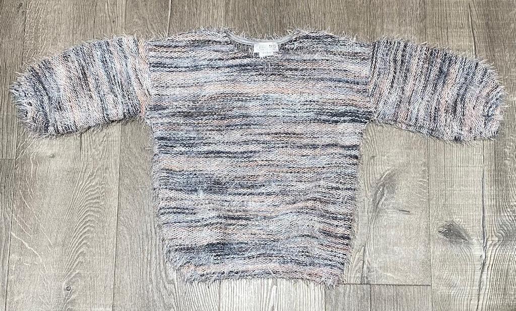 Little Mass C-Shaggy Sweater Lt. Grey