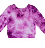 Pink Peony Sweatshirt-Violet Tye Dye