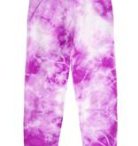 Pink Peony Sweat pants-Violet Tie Dye