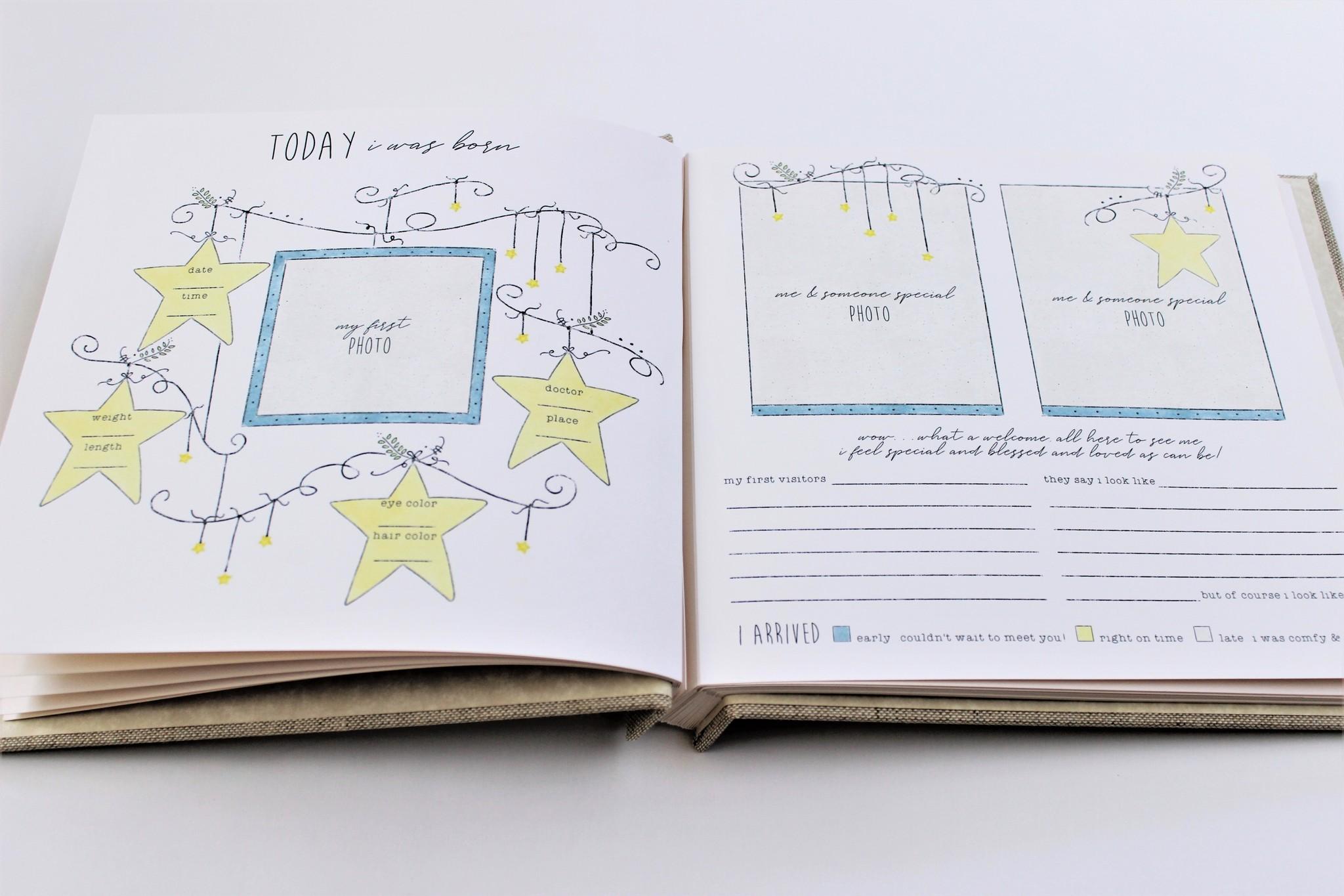 Baby Memory Book Baby Memory Book Dream Wish Love Blue