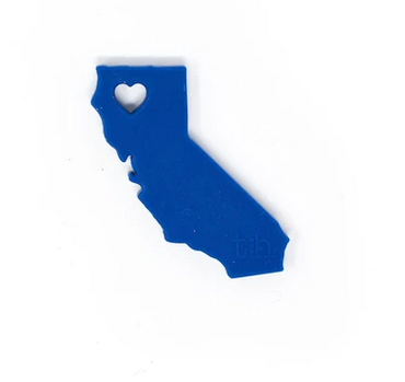 Three Hearts California State Silicone Teether