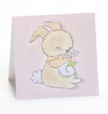 Greeting Cards Enclosure Card - Bunny Pink