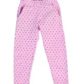 Pink Peony Sweatpants-Confetti Hearts PINK