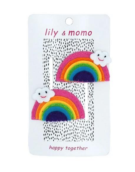 Lily & Momo Sunshine Rainbow Hair Clips