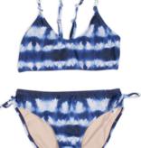 Shade Critters Tie Back Bikini-Navy Tie Dye