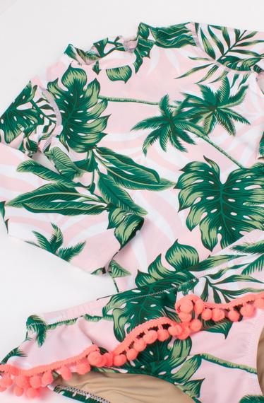 Shade Critters Rashguard Set - Pink Palm