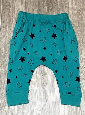 Pink Peony Harem Pants-Star Bright Teal