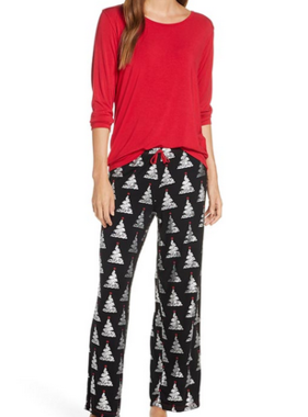 Kickee Pants L/S PJ Adult Set Mid Foil