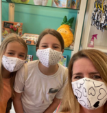 Face Mask PKP Kids Face Mask Aloha Turtle - Peony Pink