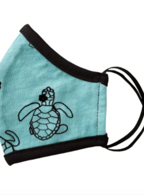Face Mask PKP Kids Face Mask-Turtle Baby Blue