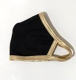 Face Mask CRZ-Face Mask Black w Gold Trim