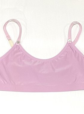 Maren Avala Super Soft Crop Top Bra Pink  size 2 (9-11yrs)