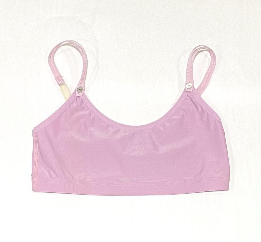 Maren Avala Super Soft Crop Top Bra Pink  size 2 (9-11yrs)