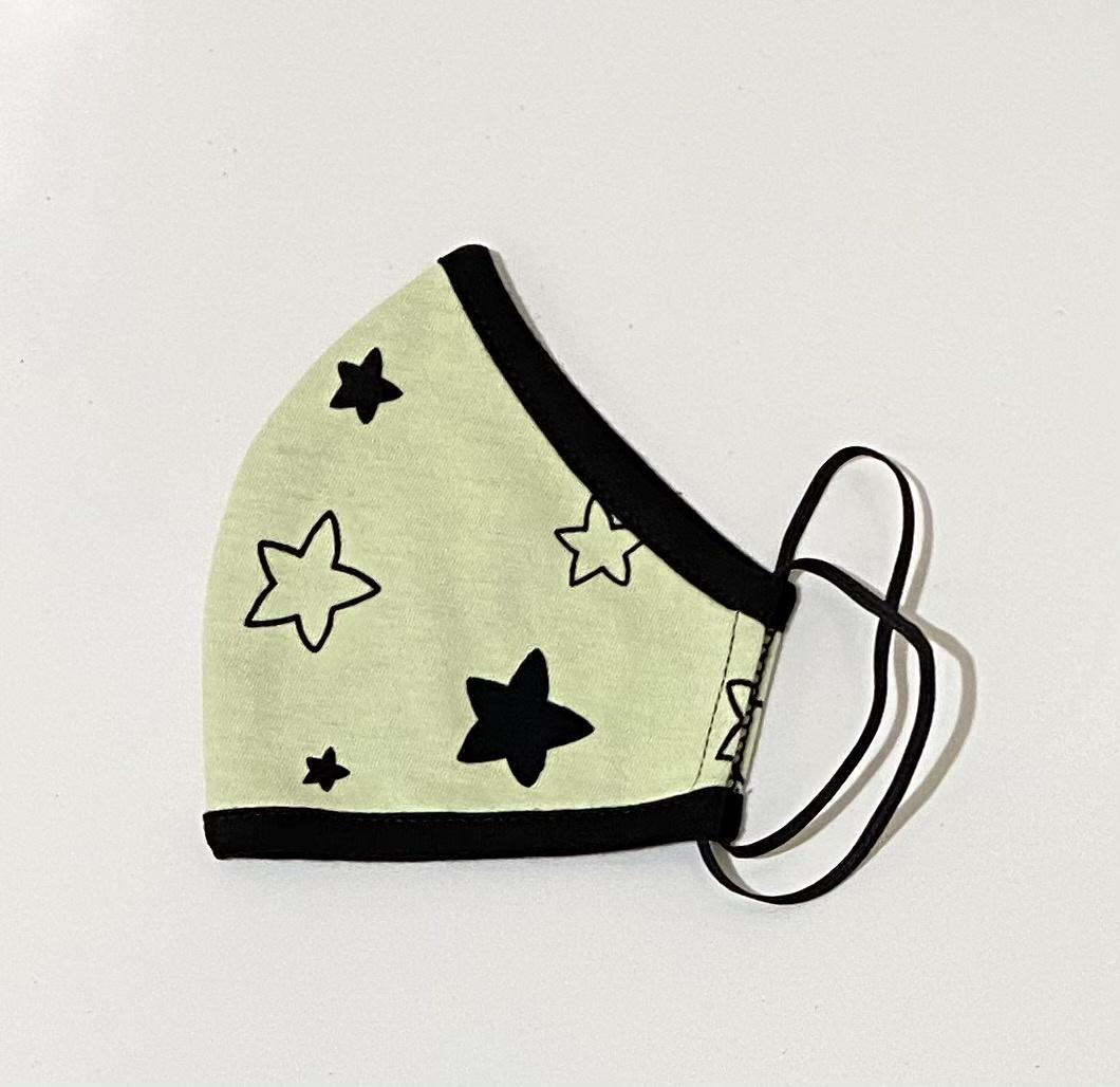 Face Mask Kids Face Mask-Lime Star
