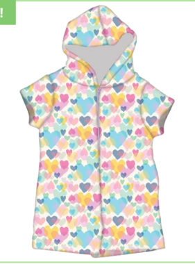 Iscream 820-1446 Pastel Hearts Romper