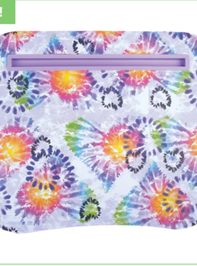 Iscream 782-216 Heart Tie Dye Lap Desk