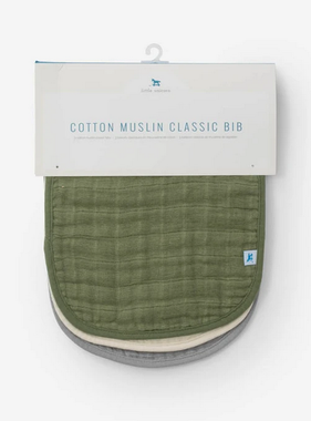 Little Unicorn Cotton Muslin Classic Bib 3 Pack - Fern Set