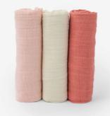 Little Unicorn Cotton  Muslin  Swaddle  3  Pack - Rose  Petal  Set