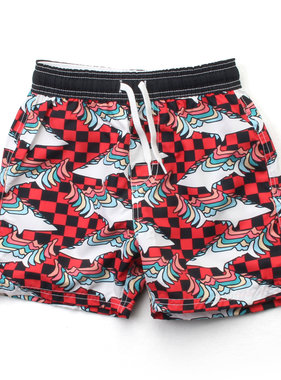 Wes And Willy Retro Sharks Trunk - Cherry