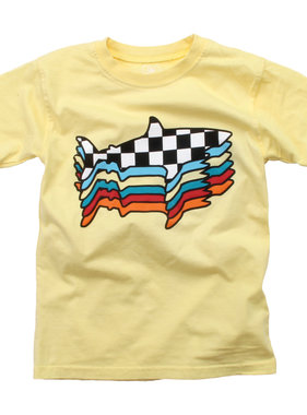 Wes And Willy Retro Sharks SS Tee - Butter